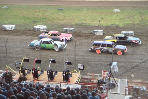 Biofeedback/Radio Controlled Full-Size Demolition Derby Cars